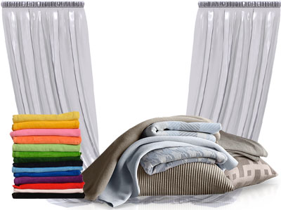 Pranje zaves začnemo s pregledom proizvoda, mu določimo stopnjo onesnaženosti in nato prilagodimo čiščenje glede na vrsto tkanine